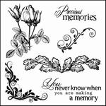 Set Of Clear Stamps 10,5x10,5 cm Elegy Precious Memories
