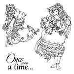 Set Of Clear Stamps 10,5x10,5 cm Fairy Tale Once Upon A Time