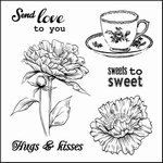 Set Of Clear Stamps 10,5x10,5 cm Afternoon Tea Sweets To Swe
