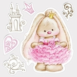 Set Of Clear Stamps 10,5x10,5 cm Bunny Princess