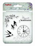 Set Of Clear Stamps 10,5 x 10,5 cm French Journey Moment Of
