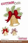 CottageCutz Elegant Christmas Bell (CC4x6-141)
