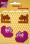 6002/0128 Cutting & Embossing stencil hoekjes hartjes