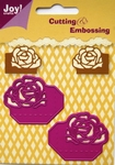 6002/0126 Cutting & Embossing stencil hoekjes roos