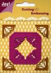 6002/0125 Cutting & Embossing stencil grote hoeken/vierkant