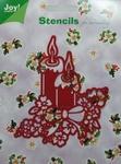 6001/0088 Joy! Kerststencil