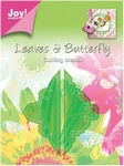 6003/0010 Stencil Mery bladeren hoek/vlinders hoek