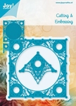 6002/0173 Cutting & Embossingmal - Blauwe mal - Vierkant