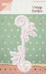 6002/0163 Cutting & Embossingmal - Vintage Borders - Swirl
