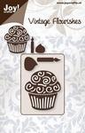 6003/0021 Cutting mal - Vintage Flourishes - Cupcake