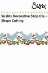 Sizzix BW sizzlits decorative strip die bower birds