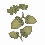 Die D-Lites S2-191 Acorns and Oak Leaf