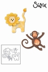Sizzix thinlits die set 8pk lion & monkey
