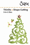 Sizzix thinlits die christmas tree