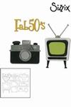 Sizzix thinlits die set 11pk retro TV camera & fab 50s