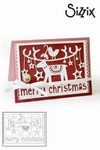 Sizzix thinlits die merry christmas