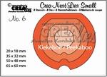 nest-dies small no. 6 Kiekeboe rond CNLS06 / 6,5x6 cm