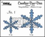 Duo Die no. 1 sneeuwvlok CLDD01 / 4 & 5 cm