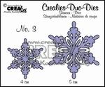 Duo Die no. 3 sneeuwvlok CLDD03 / 4 & 5 cm