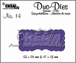 Duo Die no. 14 Duo Labels 1 CLDD14 / 5,5x2,6 4,7x1,8 cm