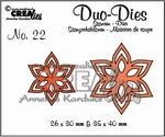 Duo Die no. 22 Flowers 13 CLDD22 / 2,6x3 3,5x4 cm