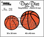 Duo Dies no. 28 basketballen 30x30mm-40x40mm / CLDD28