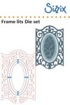 Sizzix Framelits die set 3pk frame, oval with ironwork