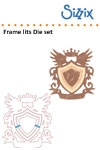 Sizzix Framelits die set 3pk frame, shield with crown