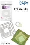 Sizzix Framelits Die set 6pk scallop squares