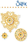 Sizzix framelits die set 4pk with stamps moroccan flowers