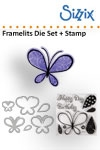 Sizzix Framelits die set 6pk with stamp butterflies