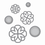 Shapeabilities S4-607 Lacework Button Flowers