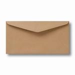 10 Envelop Kraft 11x22 CM Lichtbruin