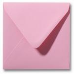 16 Envelop 14x14 cm Roma Donkerroze